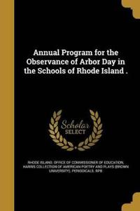 ANNUAL PROGRAM FOR THE OBSERVA