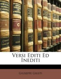 Versi Editi Ed Inediti