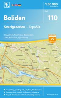 110 Boliden Sverigeserien Topo50 : Skala 1:50 000