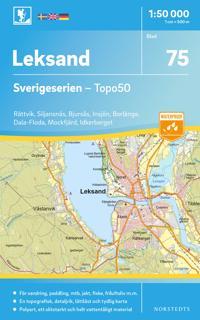 75 Leksand Sverigeserien Topo50 : Skala 1:50 000