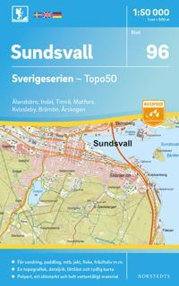 96 Sundsvall Sverigeserien Topo50 : Skala 1:50 000