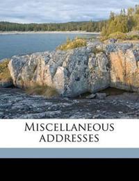 Miscellaneous addresses