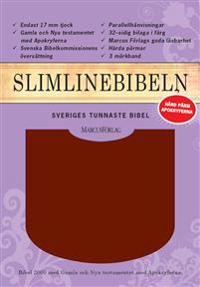 Slimline Bibeln röd cabraskinn med apokryferna