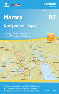 87 Hamra Sverigeserien Topo50 : Skala 1:50 000