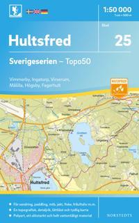 25 Hultsfred Sverigeserien Topo50 : Skala 1:50 000