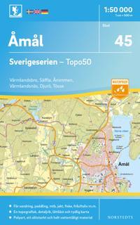 45 Åmål Sverigeserien Topo50 : Skala 1:50 000