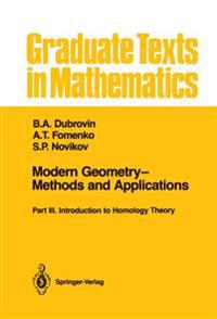 Modern Geometry-Methods and Applications Part 3
