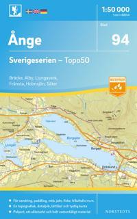 94 Ånge Sverigeserien Topo50 : Skala 1:50 000