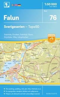 76 Falun Sverigeserien Topo50 : Skala 1:50 000
