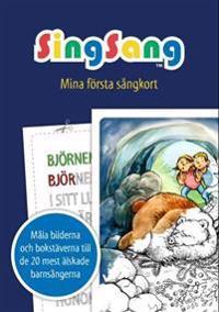 SingSang. Mina första sångkort. Målarbok