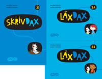 SkrivDax / LäxDax 3 elevpaket läsår, 1ex SkrivDax, 1ex LäxDax A+B