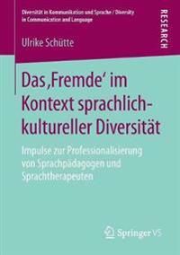 Das 'fremde' Im Kontext Sprachlich-kultureller Diversität