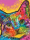 Dean Russo Tilted Head Cat Journal: Lined Journal