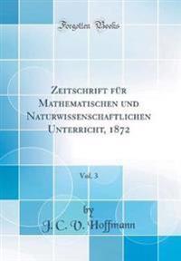 Zeitschrift für Mathematischen und Naturwissenschaftlichen Unterricht, 1872, Vol. 3 (Classic Reprint)