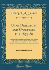 Utah Directory and Gazetteer for 1879-80