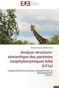 Analyse Structuro-S�mantique Des Par�mies Zoophytonymiques Lub� (L31a)