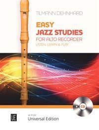 Easy Jazz Studies. Für Altblockflöte. Ausgabe mit CD