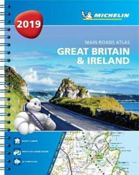 Great britain & ireland 2019 - tourist & motoring atlas a4 spiral