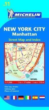 New York City Manhattan Michelin 11 stadskarta : 1:11000