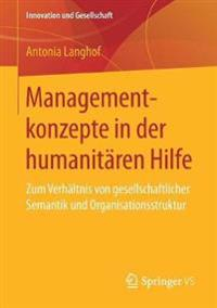 Managementkonzepte in Der Humanitären Hilfe