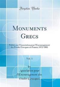 Monuments Grecs, Vol. 1