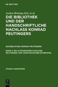 Die Autographen Kataloge Peutingers