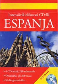 Espanja intensiivikurssi (4 cd + kirja + kielioppitaulukko)