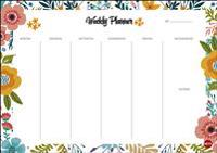 Weekly Planner Flowers DIN A4