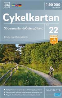 Cykelkartan Blad 22 Södermanland/Östergötland : Skala 1:90.000
