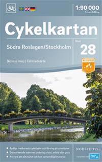 Cykelkartan Blad 28 Södra Roslagen/Stockholm : Skala 1:90.000