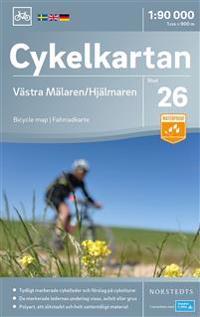 Cykelkartan Blad 26 Västra Mälaren/Hjälmaren : Skala 1:90.000