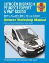 Citroën Dispatch, Peugeot Expert & FIAT Scudo Diesel ('07-Aug '16) 56 to 16