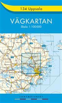 134 Uppsala Vägkartan : 1:100000