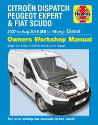 Citroen Dispatch, Peugeot Expert & FIAT Scudo Diesel ('07-Aug '16) 56 to 16