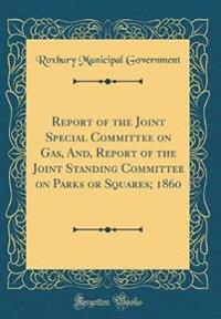 Report of the Joint Special Committee on Gas, And, Report of the Joint Standing Committee on Parks or Squares; 1860 (Classic Reprint)