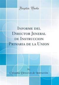 Informe del Director Jeneral de Instruccion Primaria de la Union (Classic Reprint)