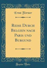 Reise Durch Belgien nach Paris und Burgund (Classic Reprint)