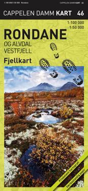 Rondane og Alvdal vestfjell; fjellkart