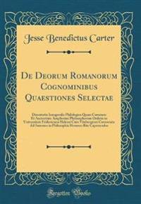 De Deorum Romanorum Cognominibus Quaestiones Selectae