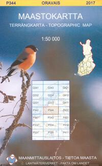 Maastokartta P344 Oravais 1:50 000