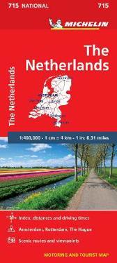 Nederländerna Michelin 715 karta : 1:400000