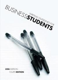 Writing Guidelines for Business Students