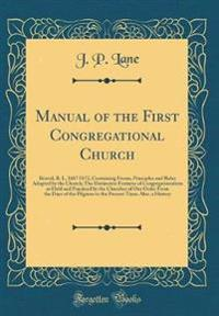 Manual of the First Congregational Church