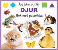 Jag leker och lär: djur Bok med pusselbitar