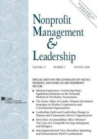 Nonprofit Management & Leadership, No. 2, Winter 2006