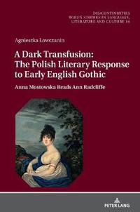 A Dark Transfusion: The Polish Literary Response to Early English Gothic: Anna Mostowska Reads Ann Radcliffe