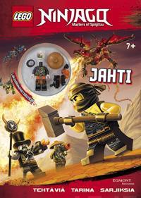 Lego Ninjago Jahti -puuhakirja legohahmolla