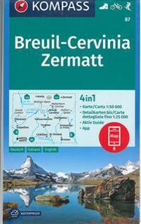 Breuil Cervinia Zermatt 1 50 000 Maailmankartat Ja Kartastot