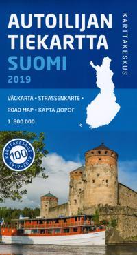 Autoilijan Tiekartta Suomi 2019, 1:800 000