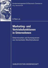 Marketing- Und Vertriebsfunktionen in Unternehmen